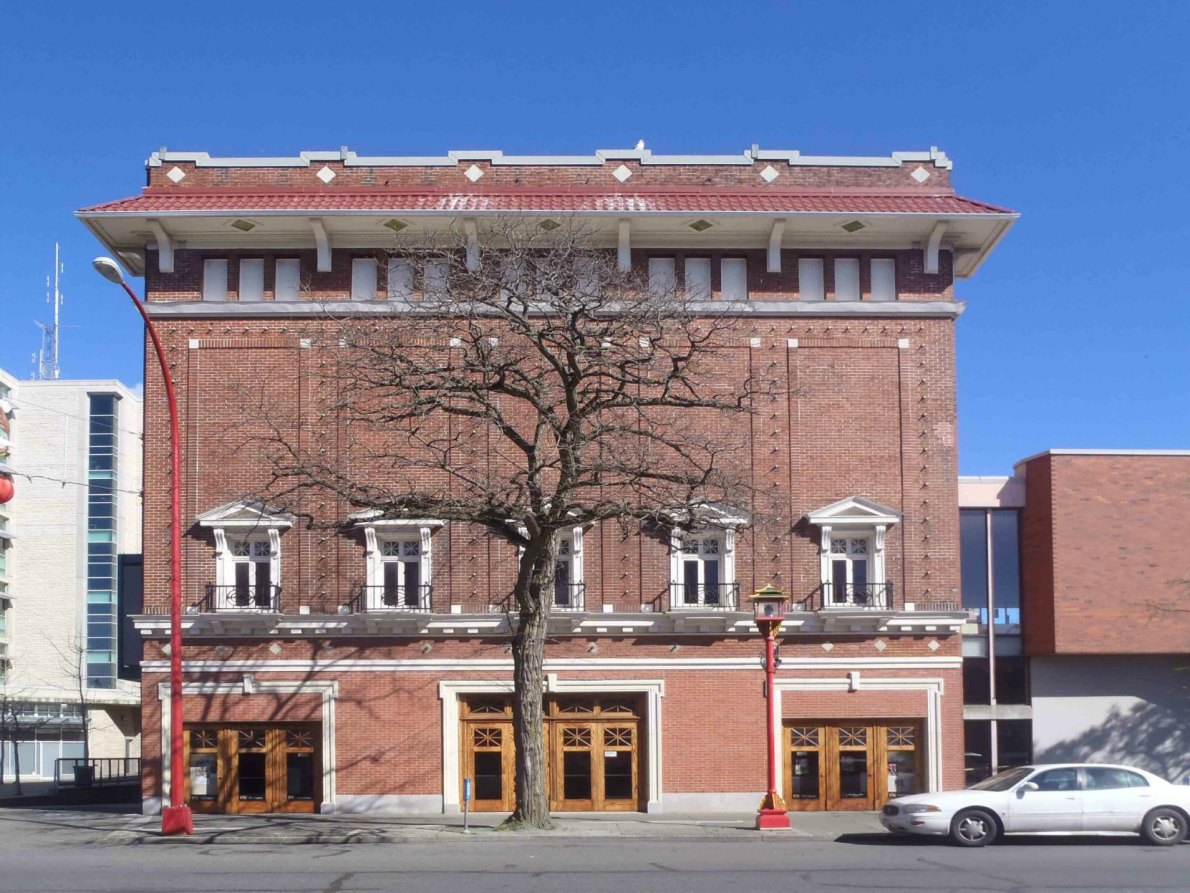 McPherson Playhouse, 3 Centennial Square, Government Street elevation. This building was built in 1914 by architect Jesse M.Warren for the Victoria real estate firm of McPherson, Fullerton & Elliot