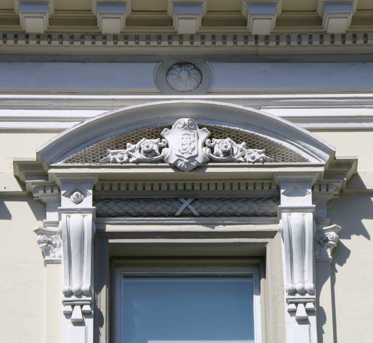 Decorative architectural detail on 1022 Government Street, built in 1885 by architect Warren H. Williams, who also designed Craigdarroch Castle.