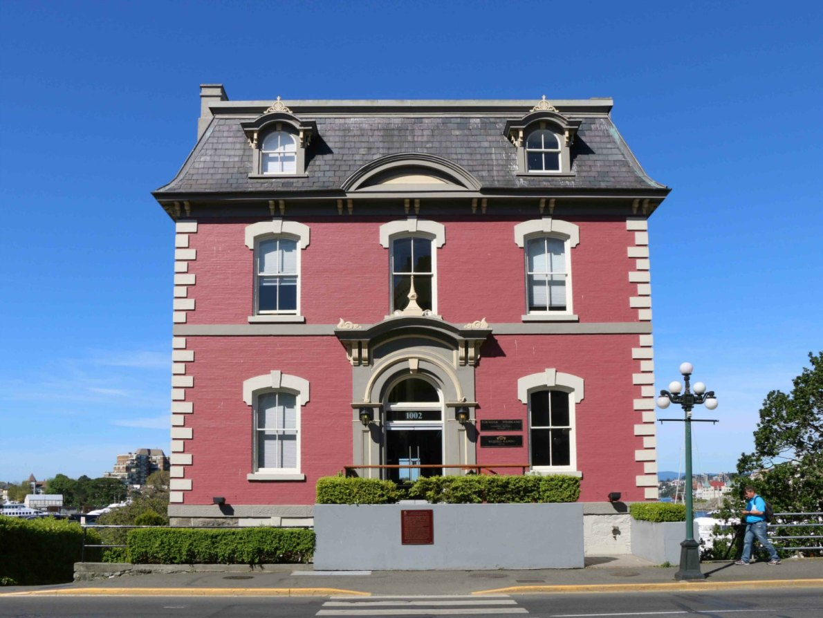 The Customs House, 1002 Wharf Street, built in 1874-75.