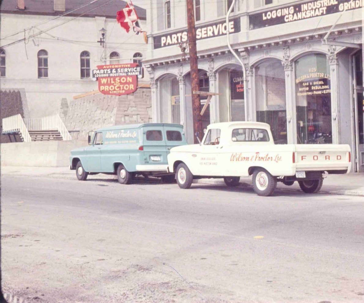 1129 Wharf Street, circa 1966, when it was owned by Wilson & Proctor Ltd.