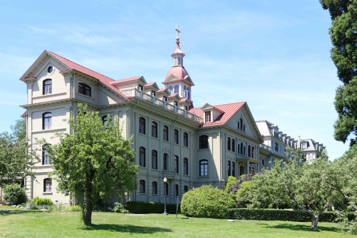 St. Ann's Academy, 835 Humboldt Street. East wing, viewed from the St. Ann's Academy grounds.