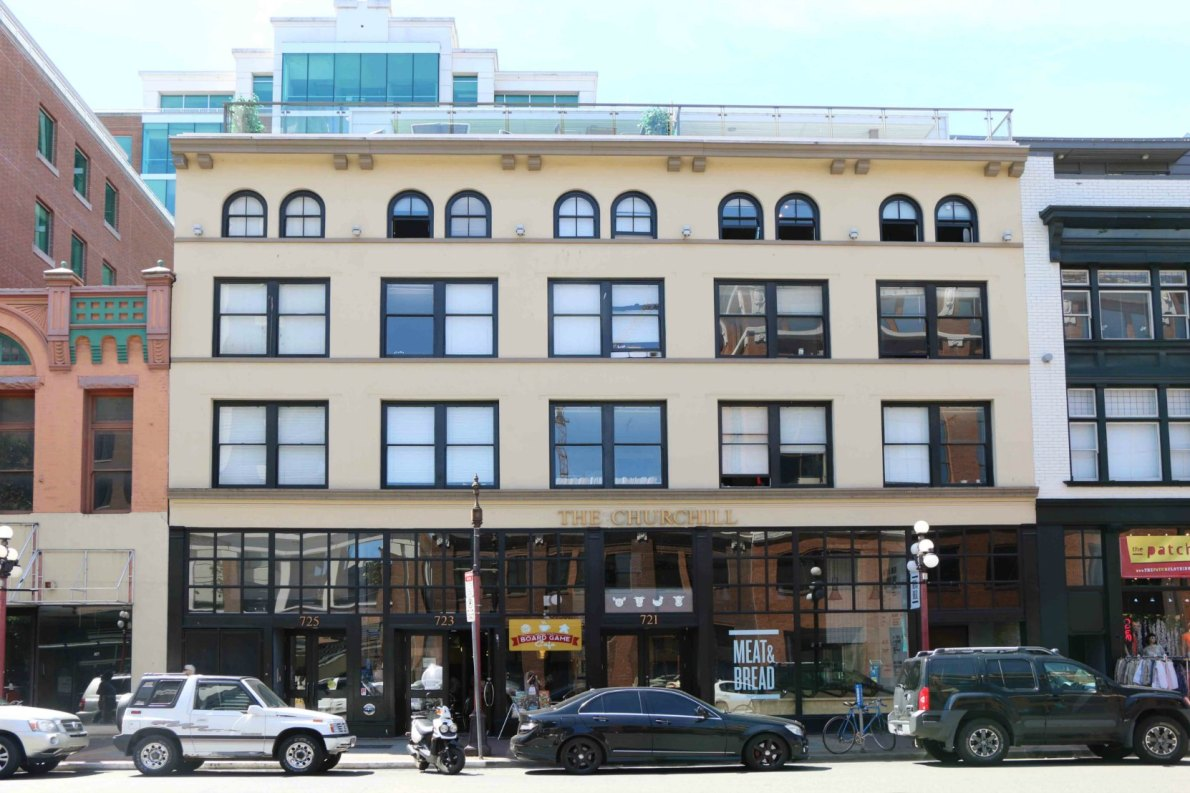 721-725 Yates Street, built in 1909 and opened as the Portland Hotel (photo: Victoria Online Sightseeing Tours)