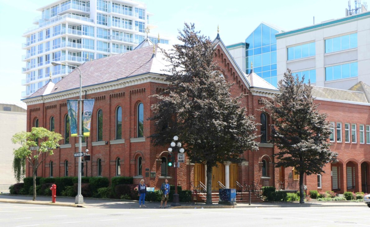 The Congregation Emanu-el, 1461 Blanshard Street. Dedicated in 1863, it is the oldest synagogue in western Canada