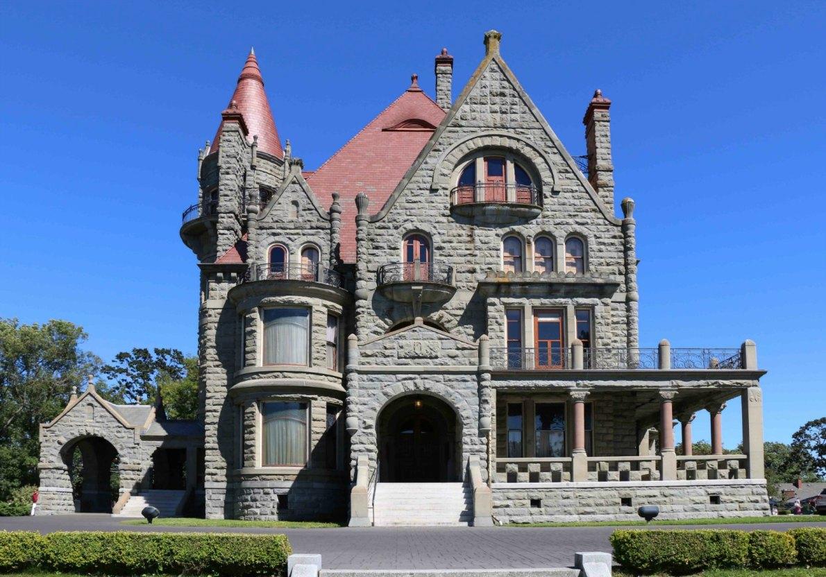 Craigdarroch Castle, west facade.