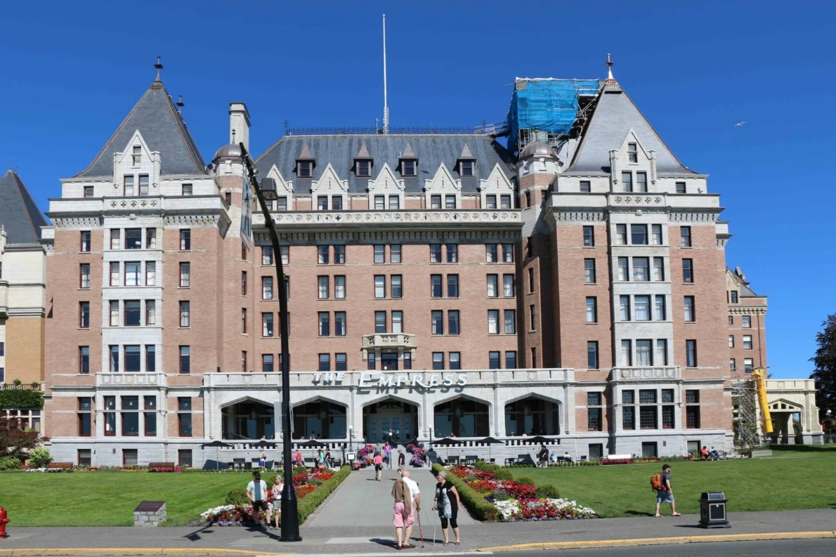 The original section of the Empress Hotel, built in 1904-1908