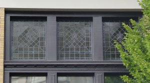 Original window detailing on the front of 716 Courtney Street, built in 1911 as the Alexandra Ladies Club (photo by Victoria Online Sightseeing Tours)