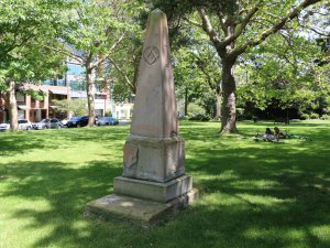 Grave of Andrew Phillips in Pioneer Square (photo by Victoria Online Sightseeing Tours)