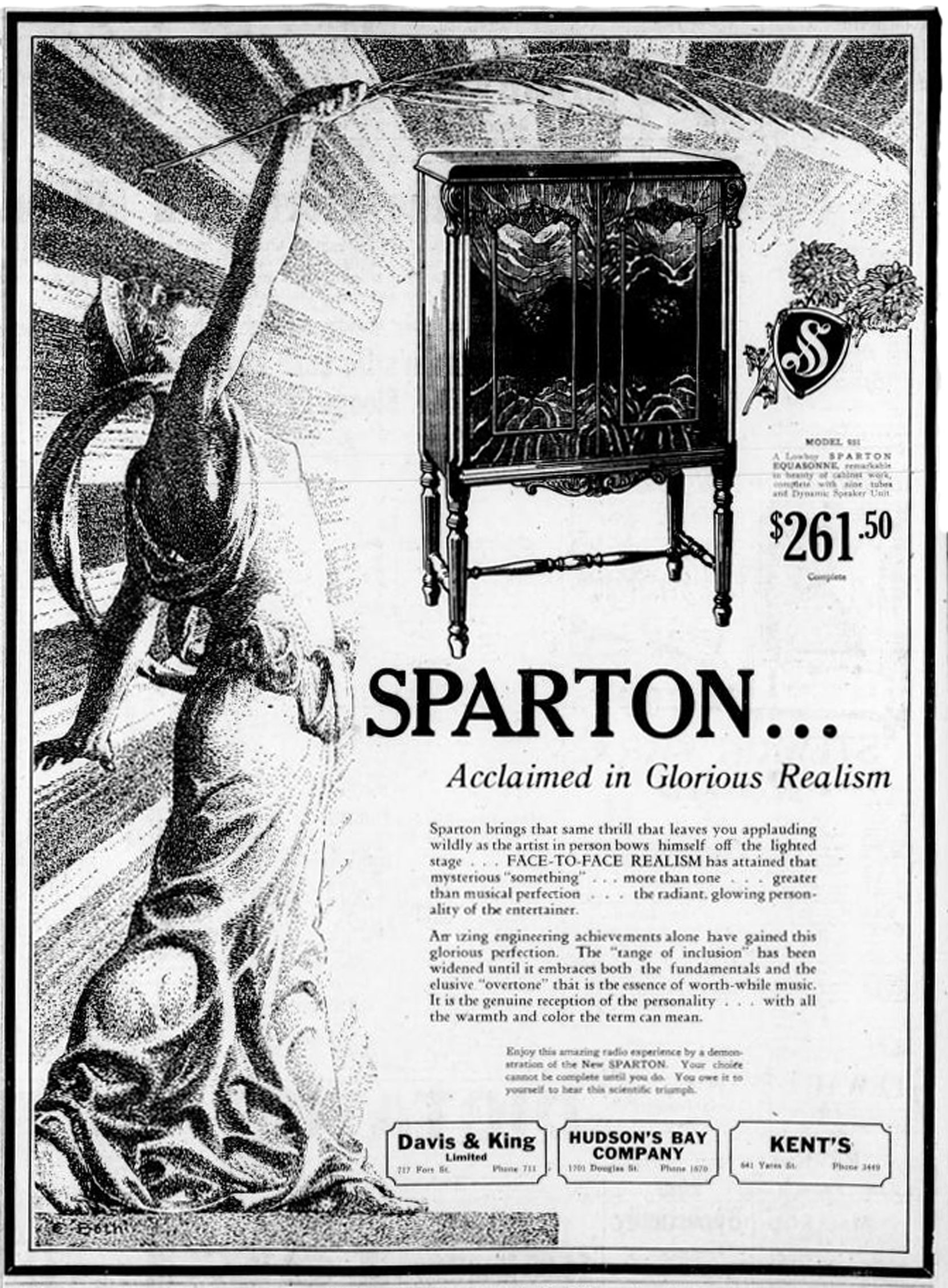 1929 Advertisement For Sparton Radio – Victoria Online