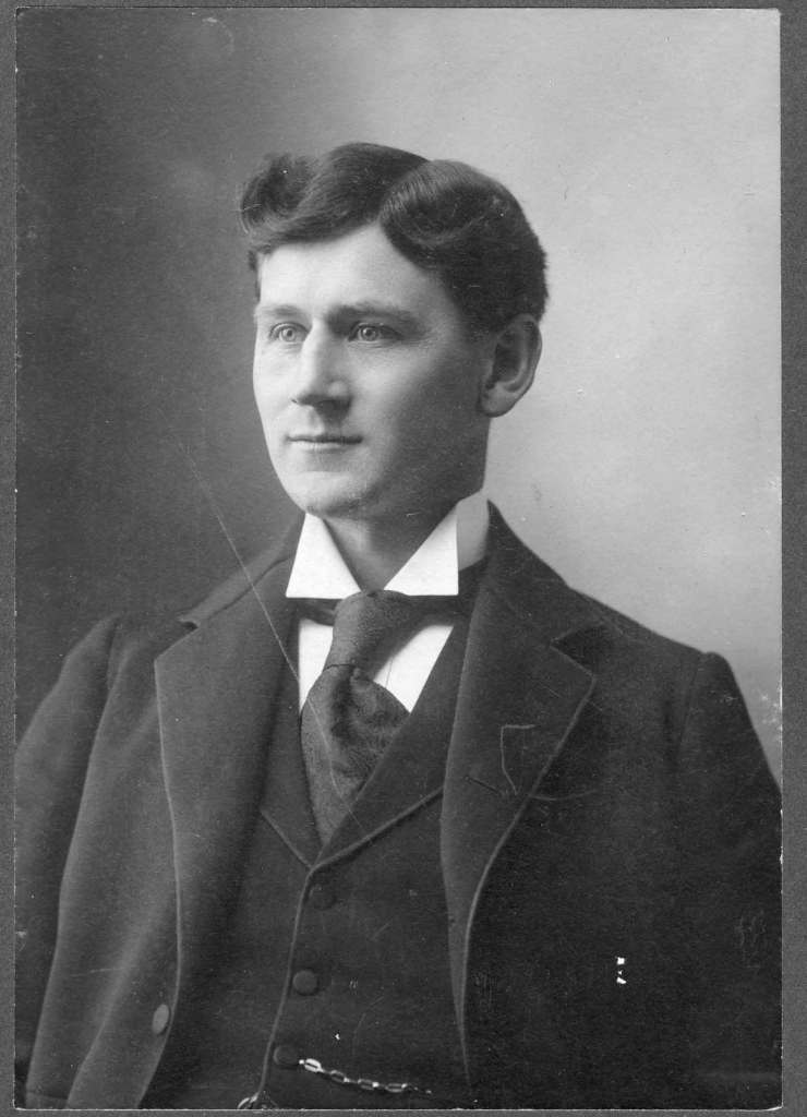 Thomas Rodney Cusack (died 1925, aged 54), circa 1900. Thomas Cusack had 625 Courtney Street built for his Cusack Printing Company. (photo courtesy of Liz and Murray Gibbs (descendants) - family collection)