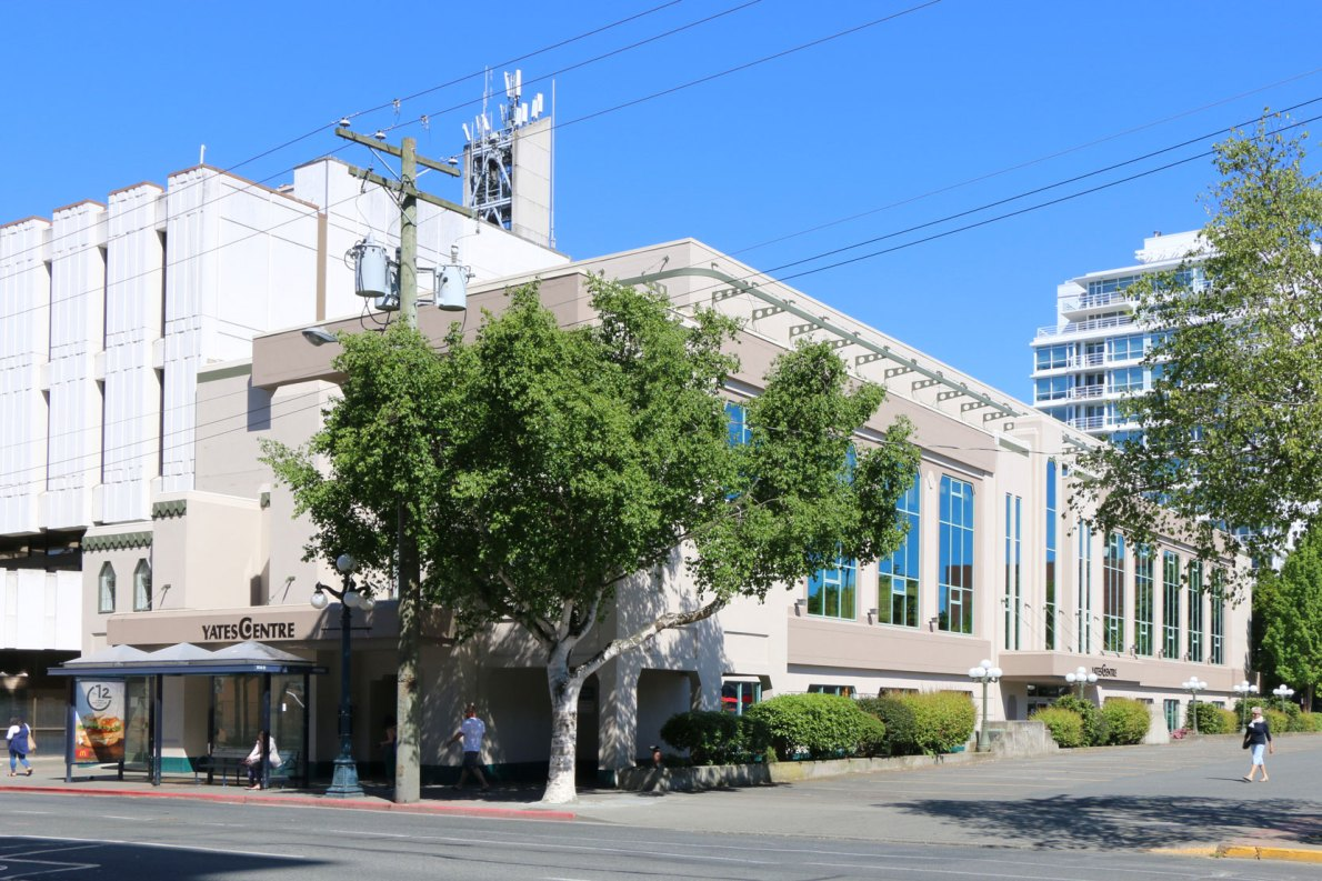 838 Yates Street, originally built in 1936 as the Atlas Theatre (photo; Victoria Online Sightseeing Tours)