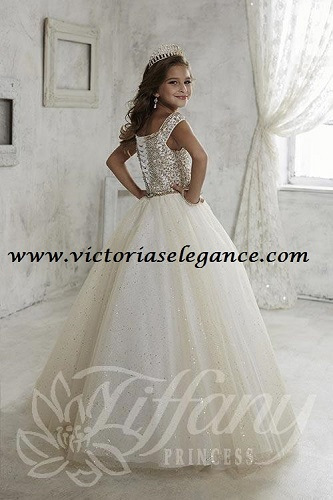 Style # 13457 Glitter Tulle Ballgown www.victoriaselegance.com