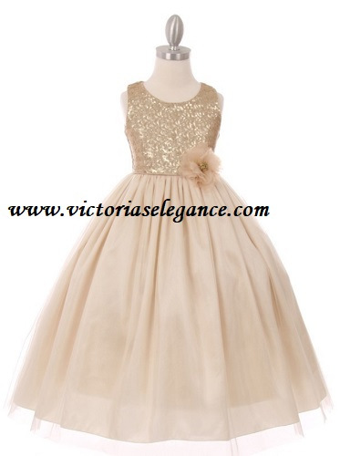 Sequined Bodice Style 1204 @ www.victoriaselegance.com