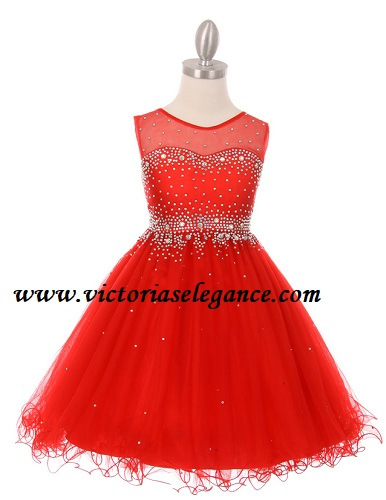 Style 5029 shown in red @ www.victoriaselegance.com