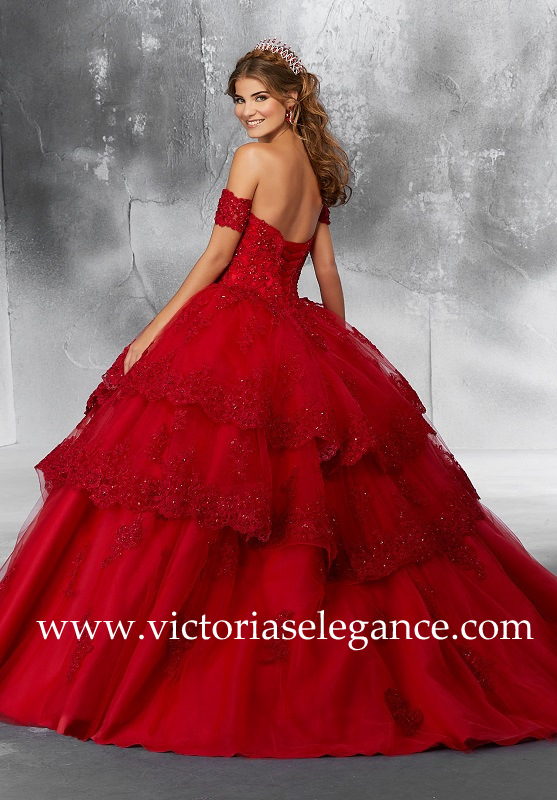 Style 89190 available @ www.victoriaselegance.com shown in Scarlet
