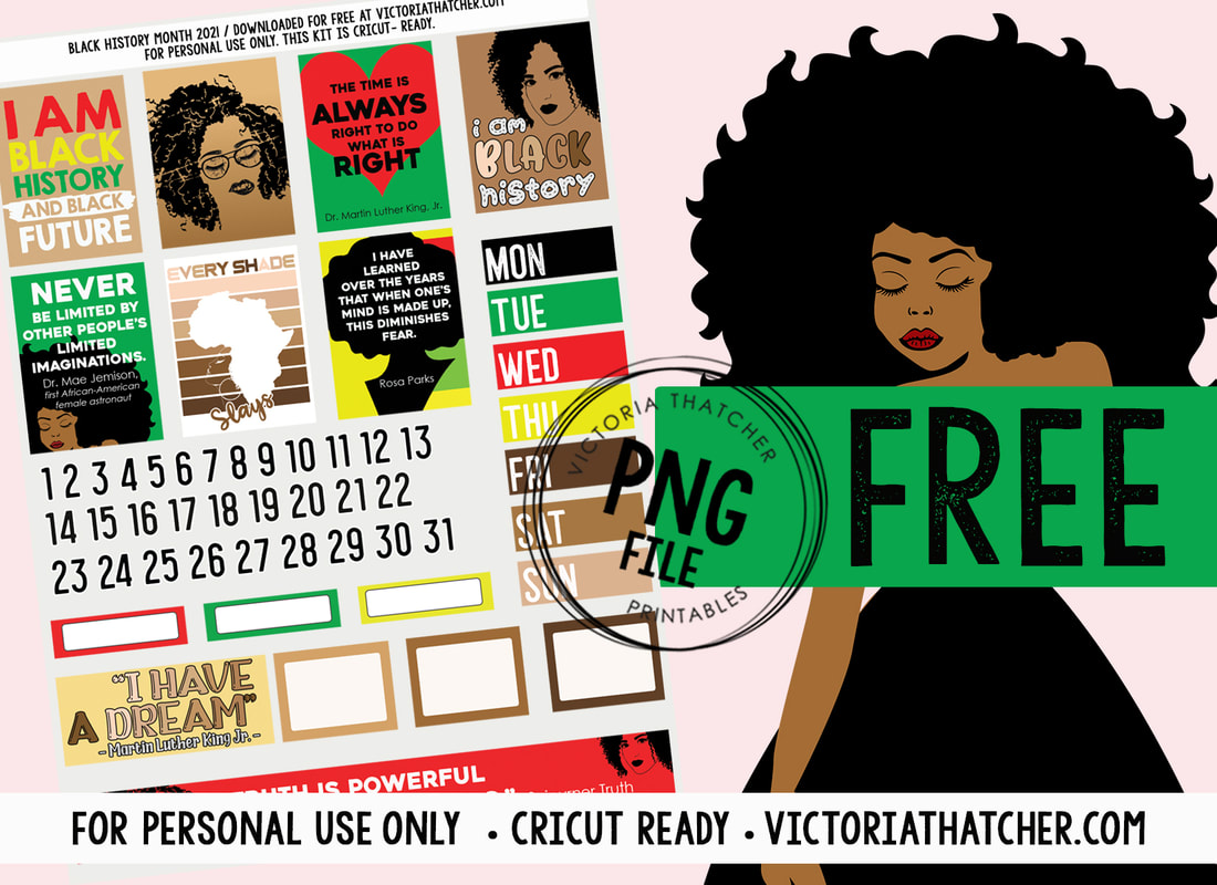 Black History Month Planner Printable