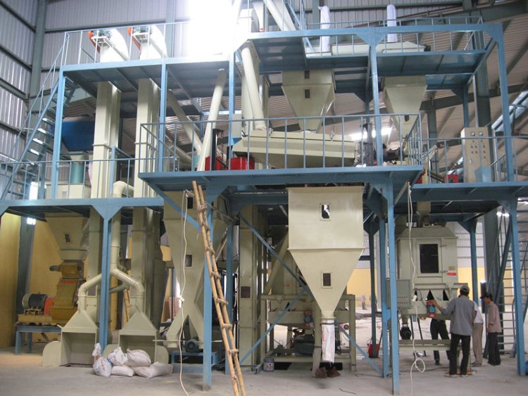 poultry feed production plant