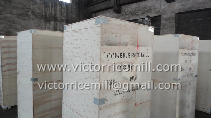 Deliver diesel rice huller machine to Angola