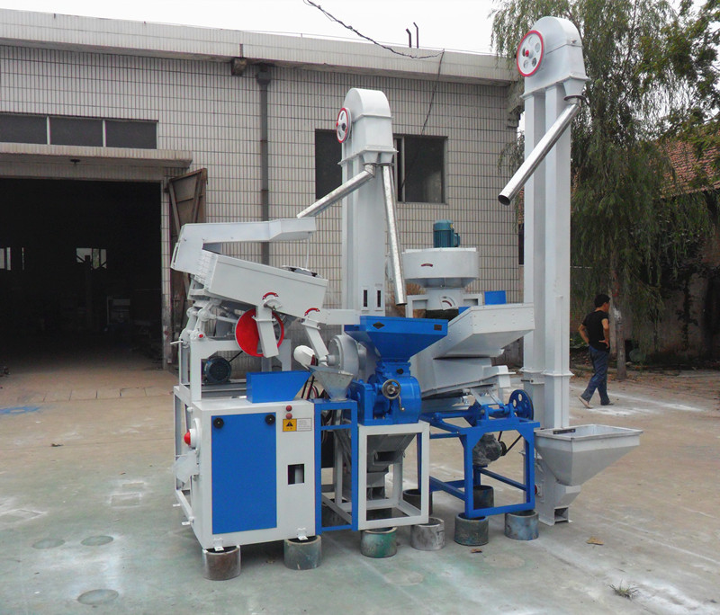 Small rice milling line