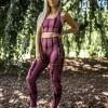 Energy tie dye seamless leggings Maroon