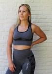 Power camo seamless sports bra Grey