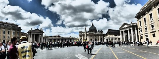 In front of St Peter's in Rome