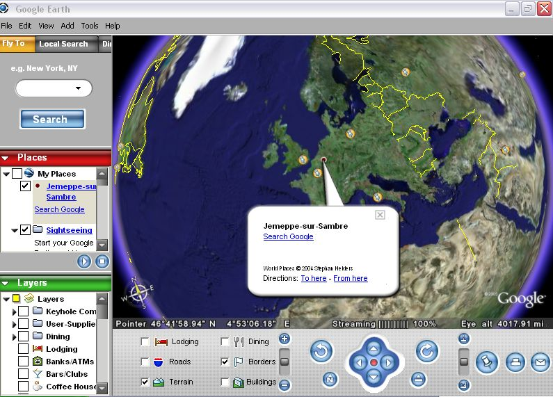 Google Earth e o Turismo