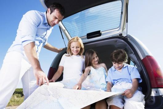 Locação de carros com a família