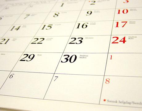 Datas comemorativas 2009