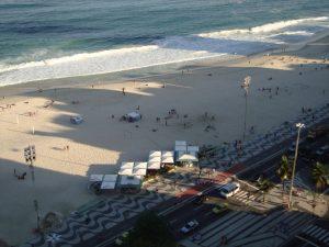 Vista do alto da Praia de Copacabana