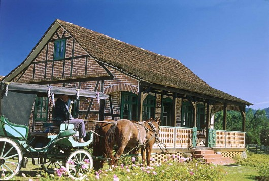 Casa enxaimel em Pomerode