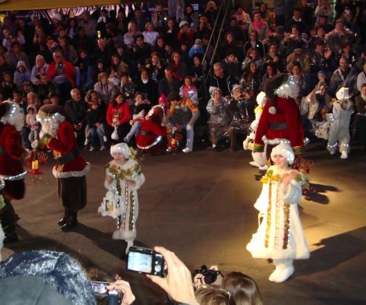 Interação com o público - Desfile de Natal