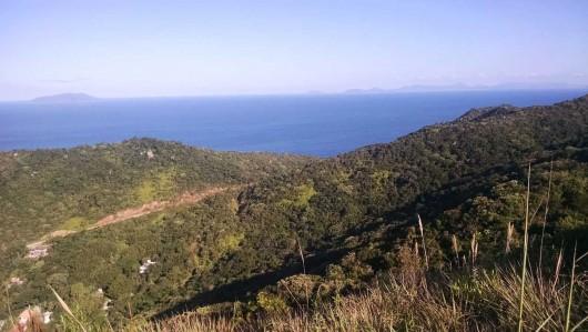 Oceano Atlântico visto do Morro do Macaco