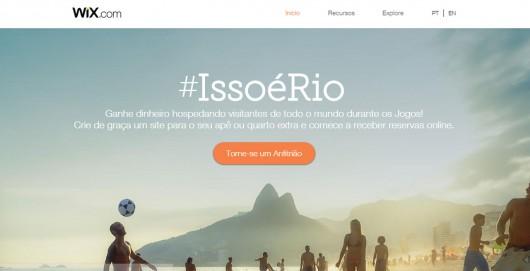 Campanha #IssoéRio da Wix!