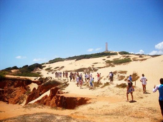Caminho até as falésias de Morro Branco