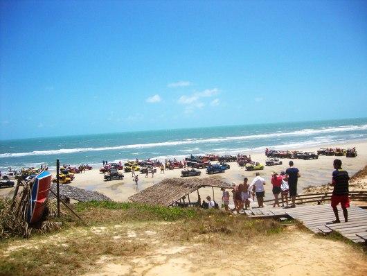 Vista da praia de Morro Branco