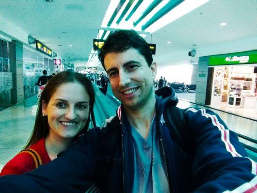 Dentro do aeroporto do Panamá