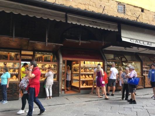 Joalherias na Ponte Vecchio