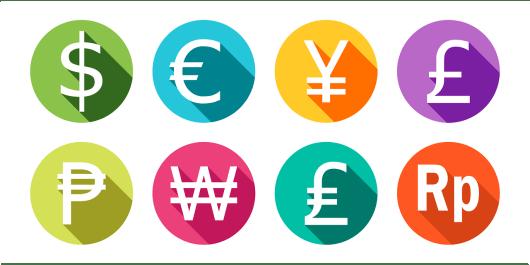 Lista de moedas do mundo