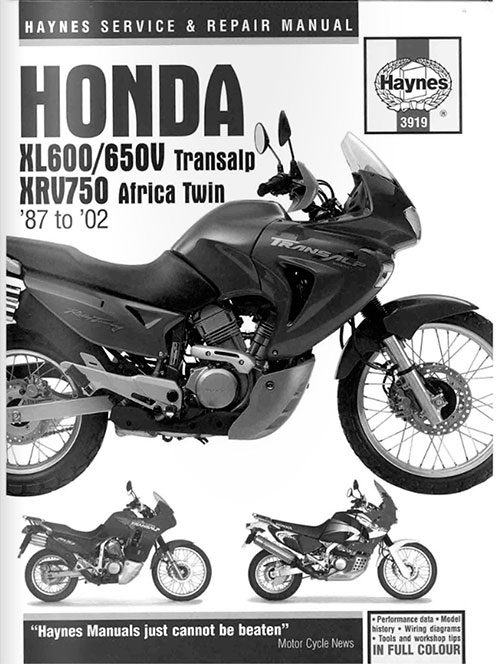 Haynes Service & Repair Manual: Honda XL600/650V Transalp, XRV750 Africa Twin '87 to '02