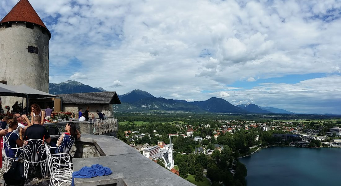 Desde el castillo de Bled, Eslovenia