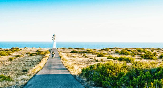 Carretera en Formentera