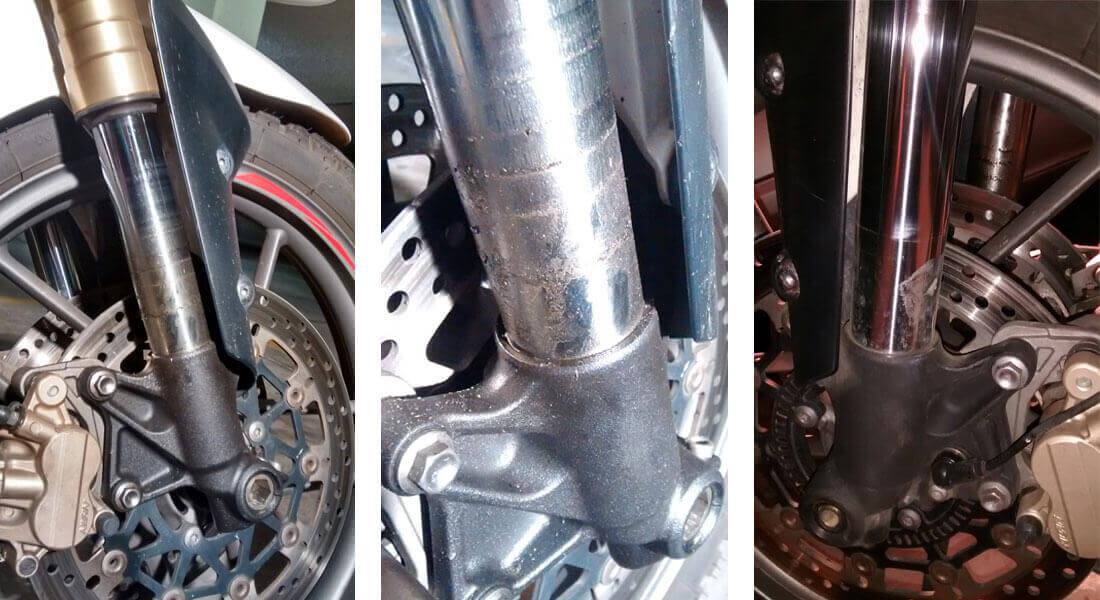 Retén de horquilla roto en Triumph Tiger 800