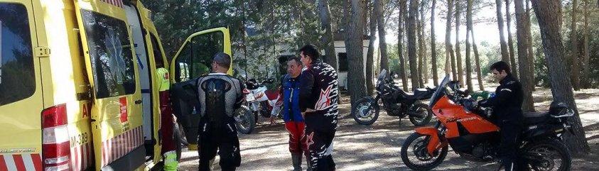 Ambulancia para ruta en moto trail