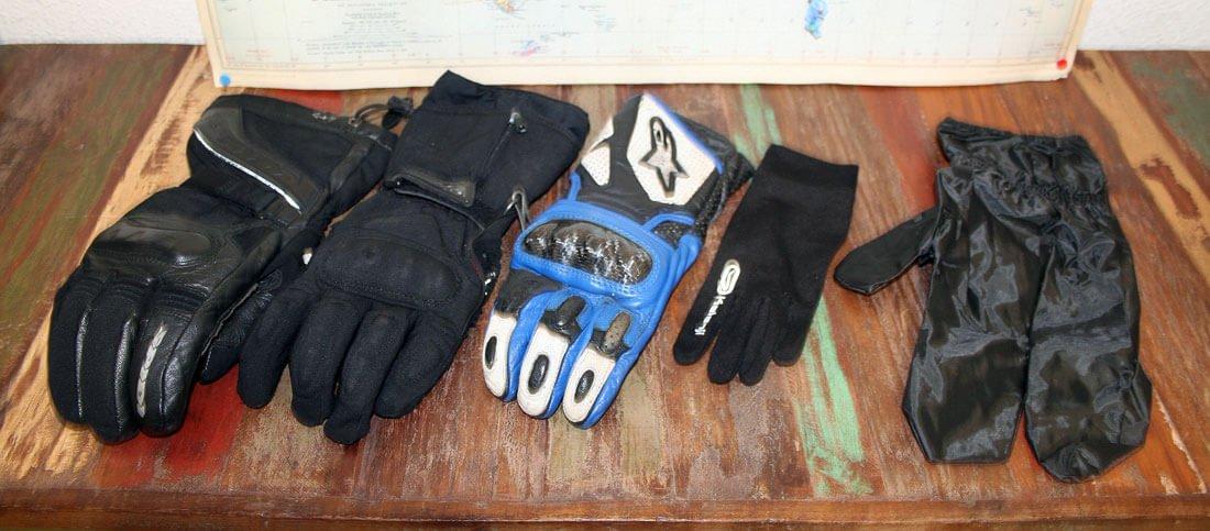 Frío en moto, los guantes
