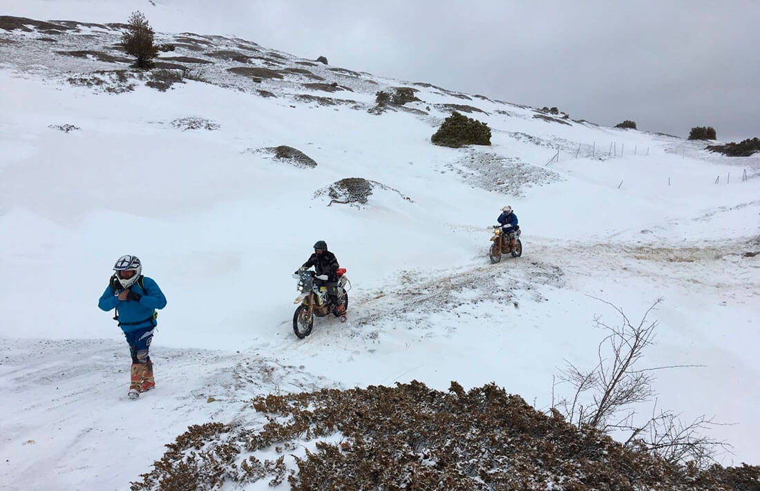 Frío y nieve en la March Moto Madness Teruel 2018