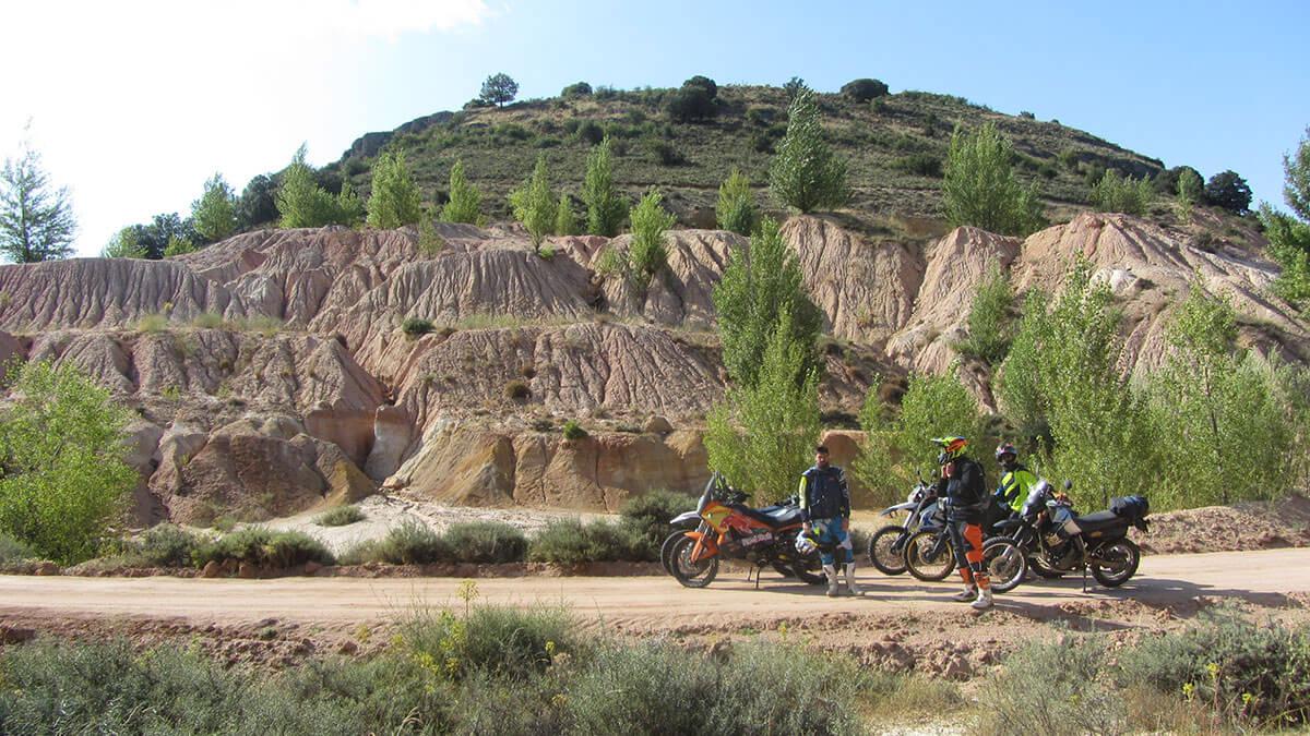 Médulas de roca al pie de una mina