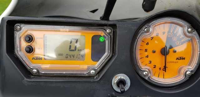 Relojes e instrumentación de KTM 650 Adventure