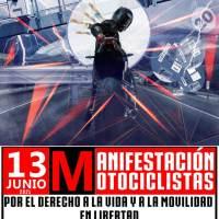Más de 20.000 motoristas salieron a las calles el domingo 13 de junio para defender sus derechos