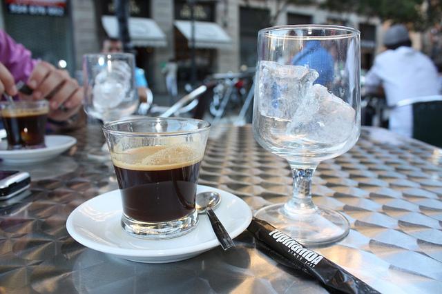 Кафе со льдом в Испании
