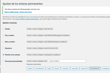 Como habilitar Permalinks en WordPress
